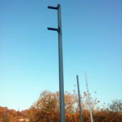 Стойка с приваренным креплением для светофора