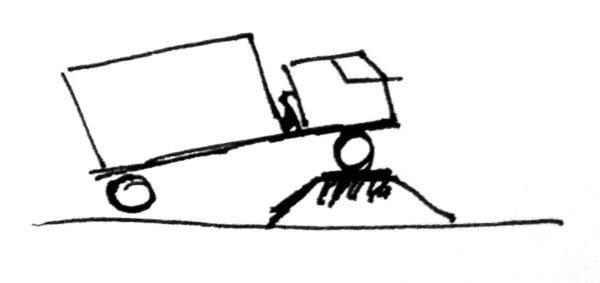 Рисунок автомобиля, стоящего на грузоприёмном устройстве передней осью
