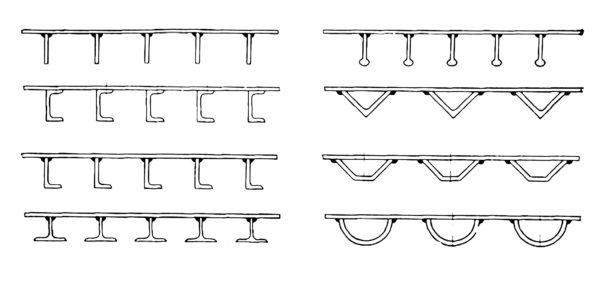Схематическое изображение видов ортотропных плит