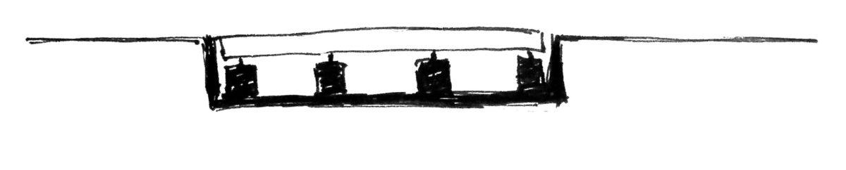 Схематическое изображение установки автомобильных весов в приямок