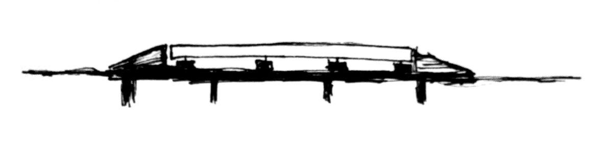 Схематическое изображение установки автомобильных весов на накладной фундамент