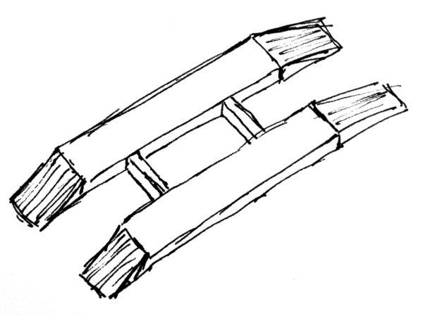 Схематическое изображение колейных весов