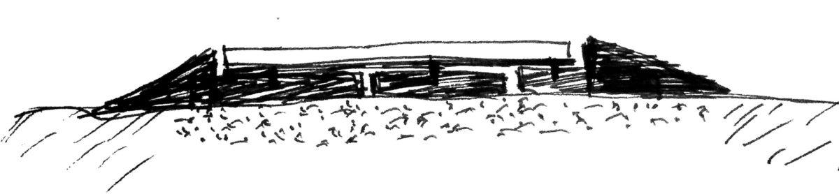 Схематическое изображение установки автомобильных весов на дорожные плиты