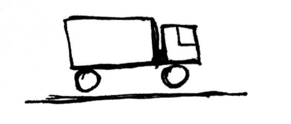 Рисунок автомобиля, стоящего на весах