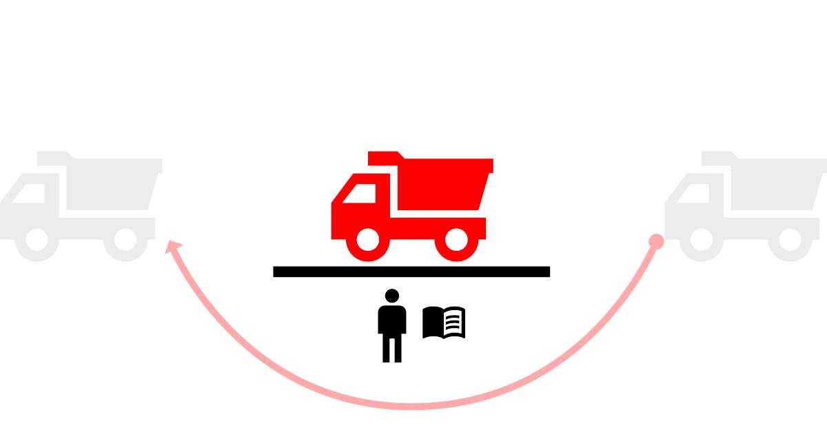схема организации учёта на автомобильных весах с оператором и бумажным журналом